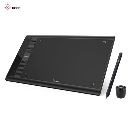 Ugee M708 Upgraded Graphics Drawing Tablet Board with Battery-free Passive Pen 8192 Pressure Sensitivity 266RPS 10 * 6inch for Windows for Mac OS ()