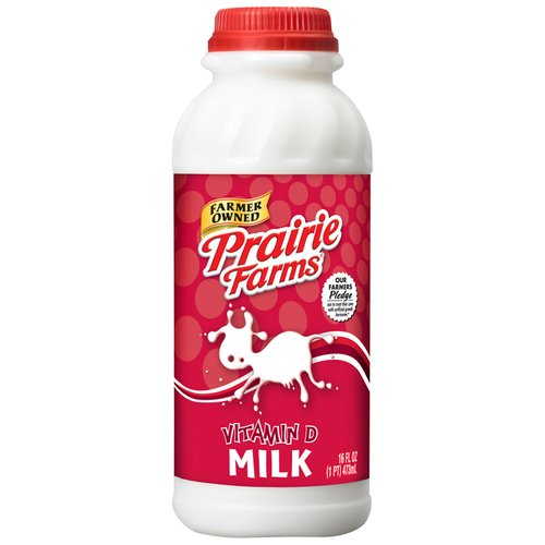 Prairie Farms Vitamin D Milk, 16 Oz.