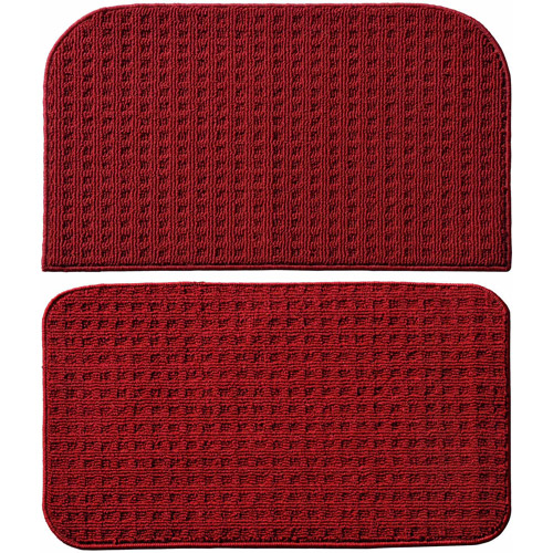 "Garland Rug Herald Square 2pc Kitchen Rug Slice and Mat, 18"" x 28"""
