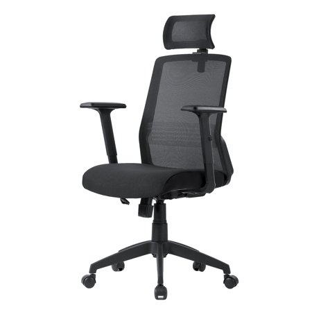 Surprising Moustache Ergonomic Mesh Office Chair With Adjustable Headrest And Armrest Black Home Interior And Landscaping Ologienasavecom