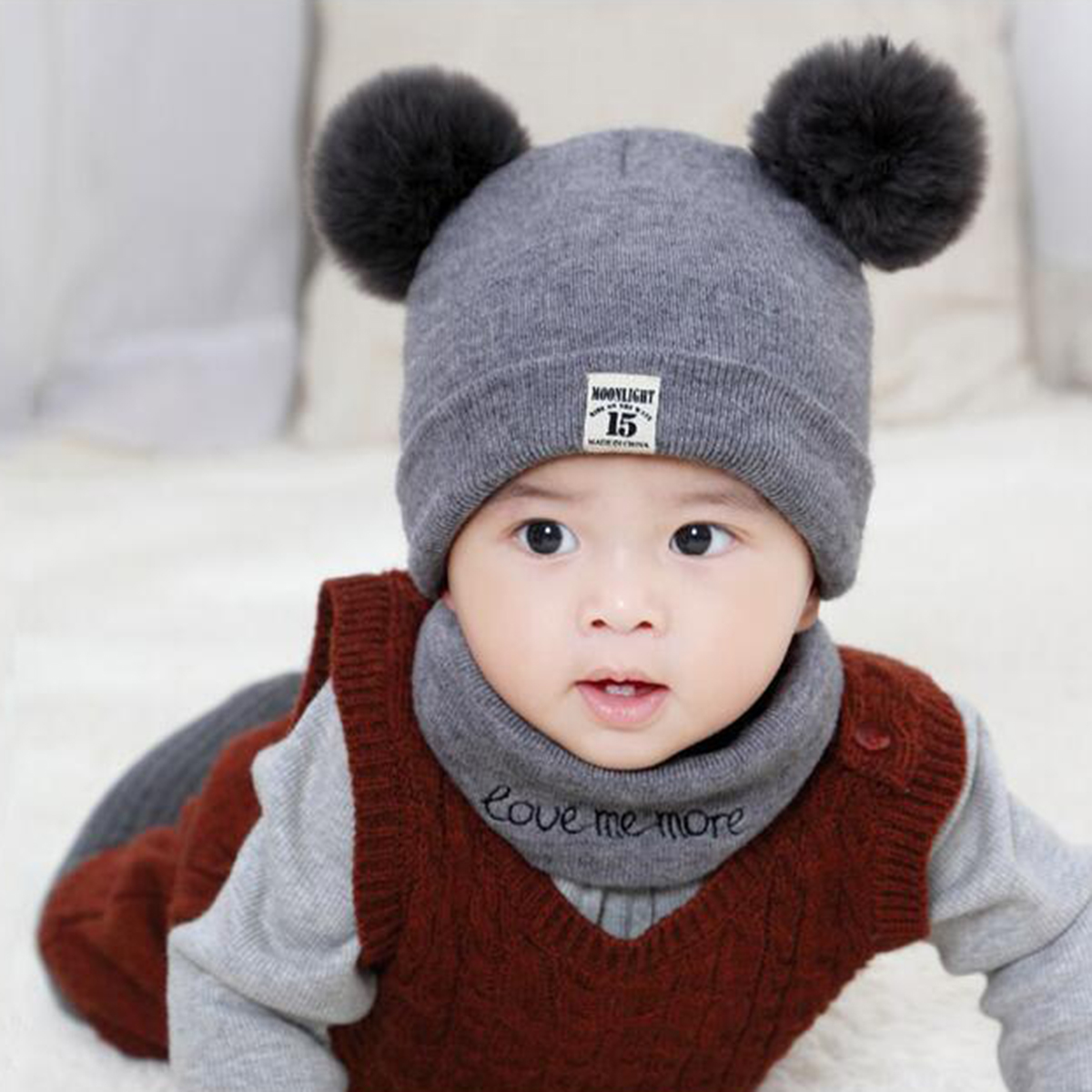 Baby Hats Beanie Spring Warm Girl Boy Toddler Infant Kids Children Cute Hat Cap