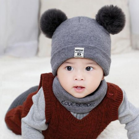 1f8a6f2c0 Newborn Baby Hats Baby Spring Winter Warm Knit Hat Infant Toddler Kid  Crochet Hat Beanie Cap Windproof Wool Hat Toddler Kids Boy Girl Children's  ...