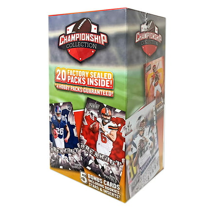 2019 NFL Football Championship Collection- NFL Football 20 Packs + 5 2018 cards + Card Case- Online