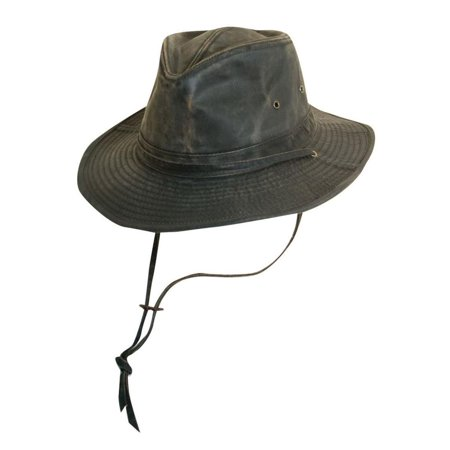 Dorfman-Pacific Weathered Cotton Outback Hat With Chin Cord f7f84d070f4b
