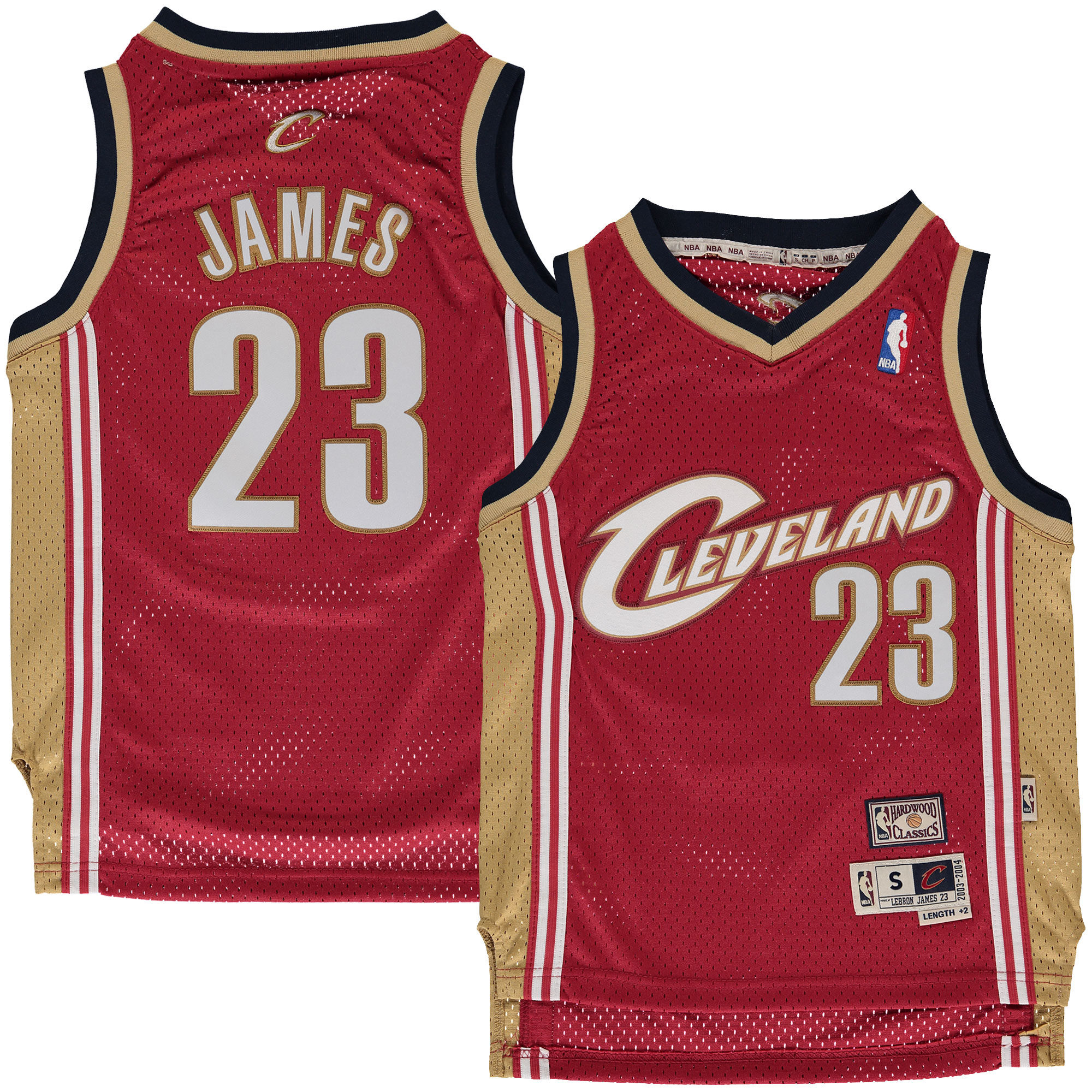 huge discount 9920a 7bc9d LeBron James Cleveland Cavaliers Mitchell & Ness Youth Hardwood Classics  Swingman Jersey - Maroon