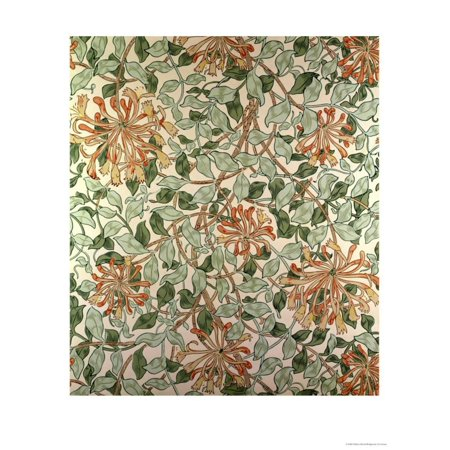 - Honeysuckle II' Design Print Wall Art By William Morris