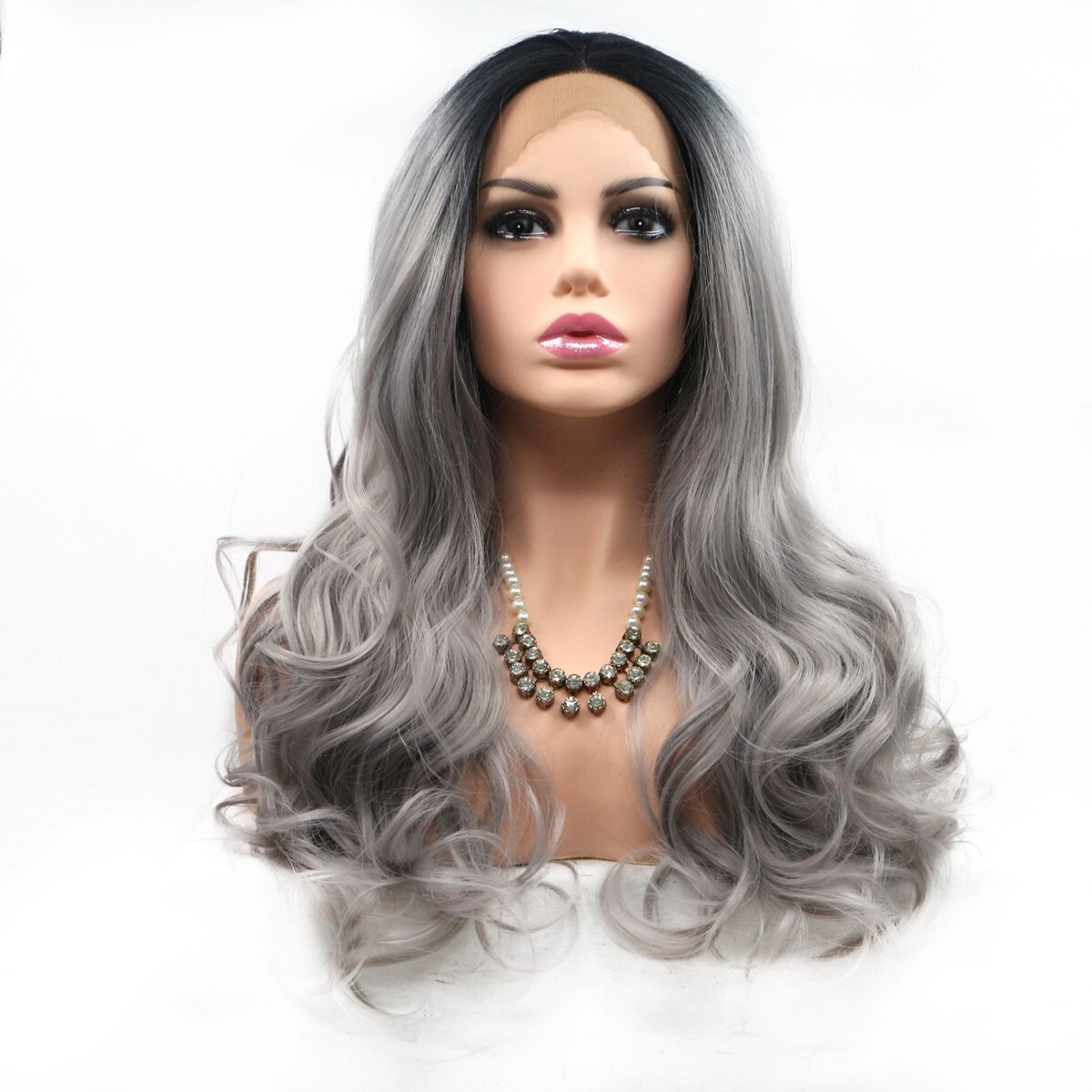 Beroyal Hair Lace Front Wigs Curly Hair Heat Resistant ...