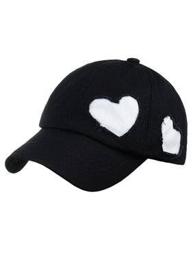 ade4ecdd92b Product Image C.C Women s Heart Cut Design Cotton Unstructured Precurved  Baseball Cap Hat