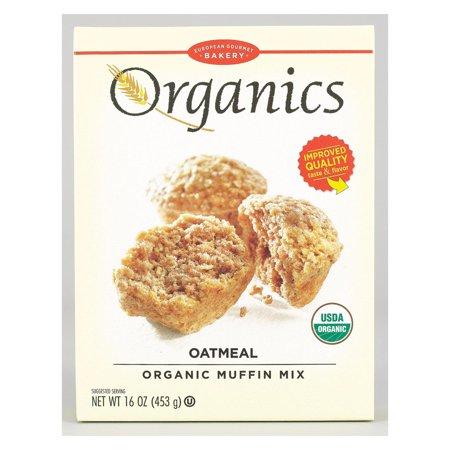 European Gourmet Bakery Organic Oatmeal Muffin Mix - Oatmeal - pack of 12 - 16 Oz.