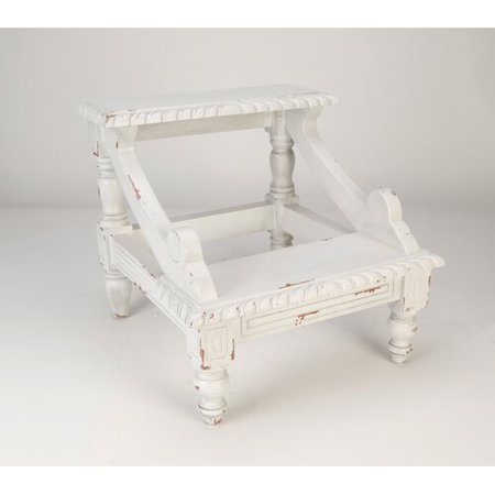 Superb Aa Importing 2 Step Wood Step Stool With 200 Lb Load Capacity Creativecarmelina Interior Chair Design Creativecarmelinacom