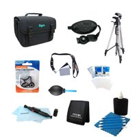 "Digital SLR Camera Accessory Bundle 10pc Kit for Canon Nikon Sony & all others  60"" Tripod, Lens Cleaning Kit & Pen, Deluxe Carrying Case, Micro Fiber Cloth, Digital Grey Card Set, Professional Blowe"