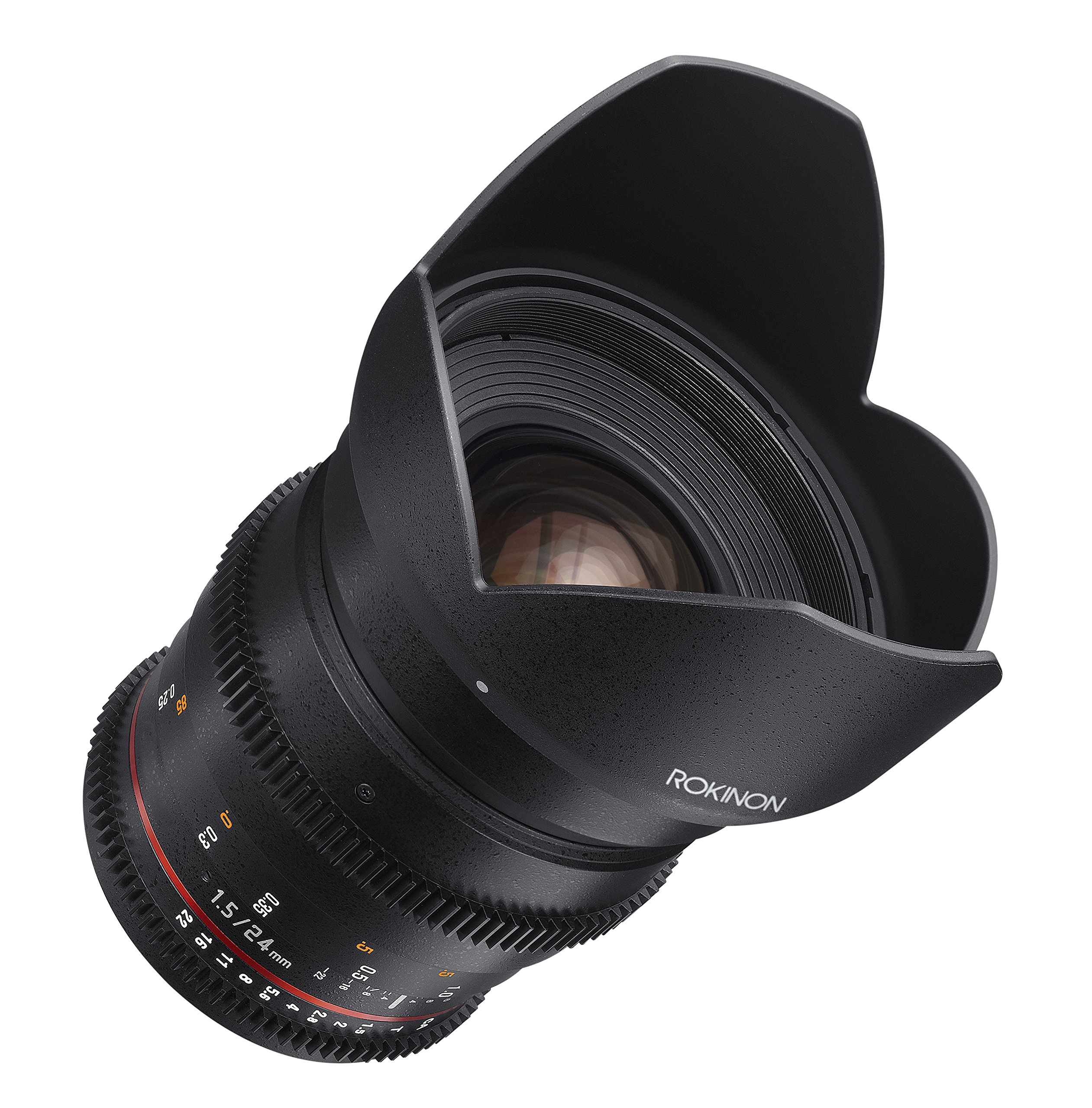 ROKINON 24mm T1.5/f1.4 Cine Wide-Angle Lens for Micro 4/3 Cameras