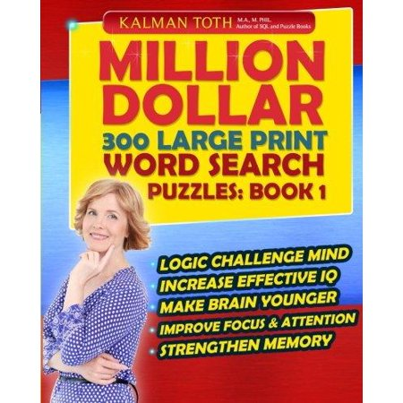 Million Dollar 300 Large Print Word Search Puzzles  Book 1