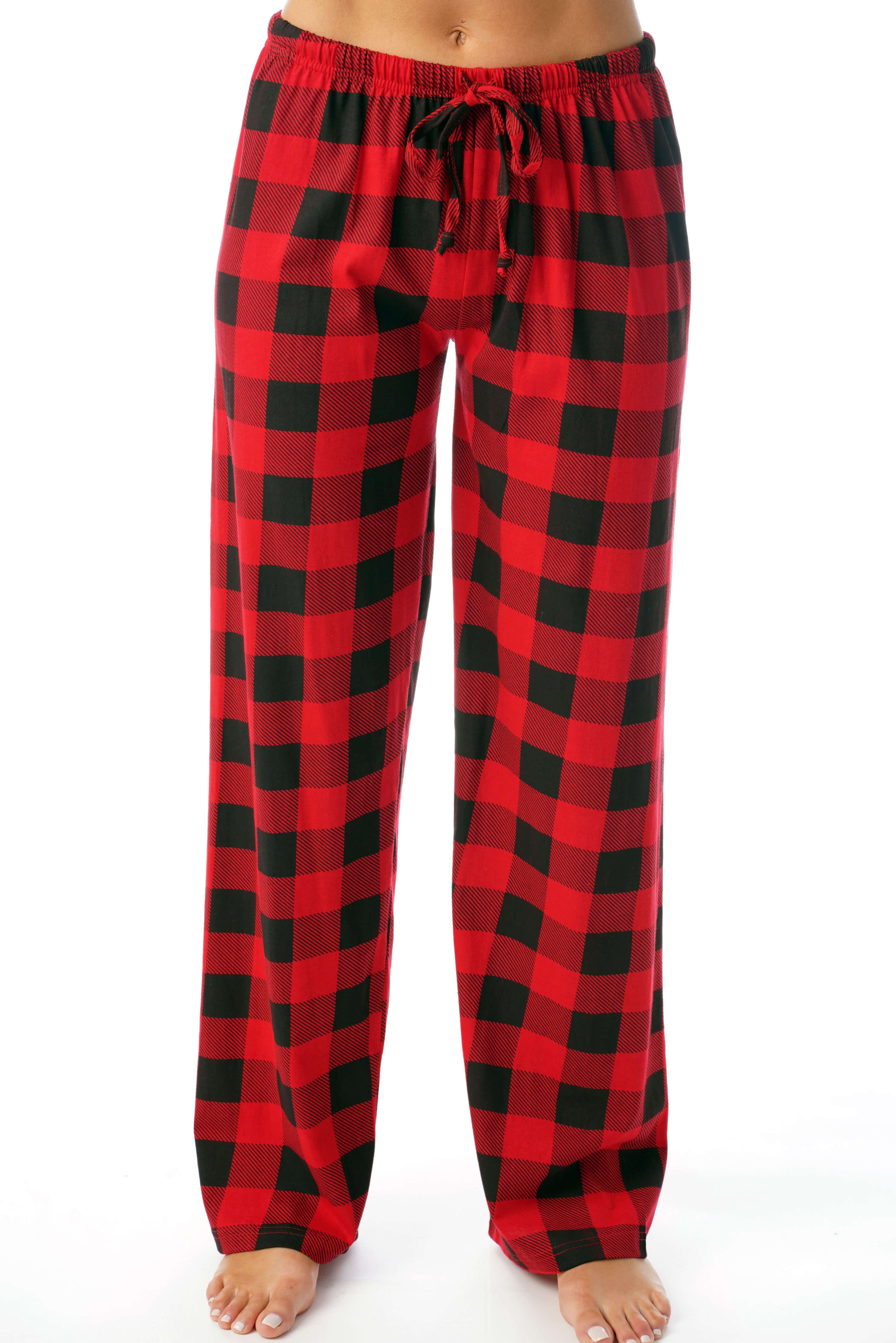 Just Love - Just Love Women Buffalo Plaid Cotton Pajama ...
