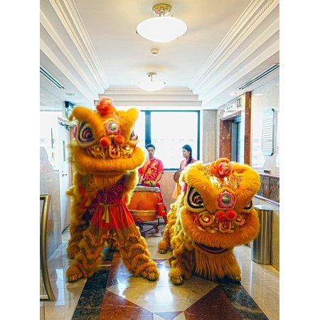 Canvas Print Dancing Chinese Lion Dance Luck New Year Tradition Stretched Canvas 10 x (Best Chinese Lion Dance)