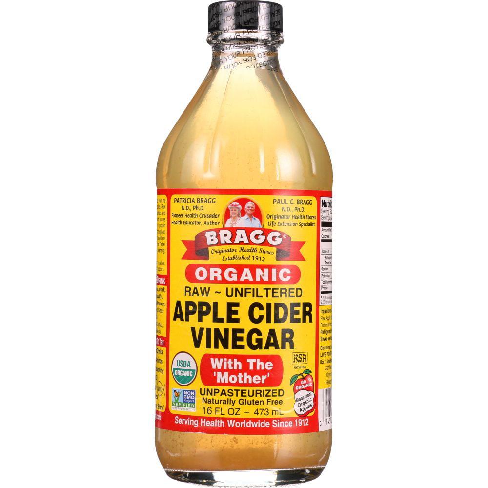Bragg's Liquid Aminos Org Raw Unsweetened Apple Cider Vinegar ( 12X16 Oz) by