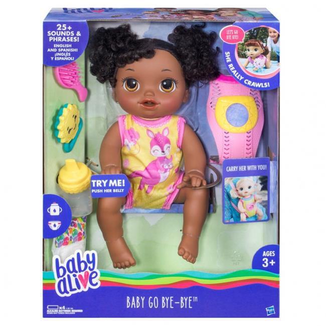 Hasbro HSBC2690 2 Baby Alive Go Bye African American by Hasbro