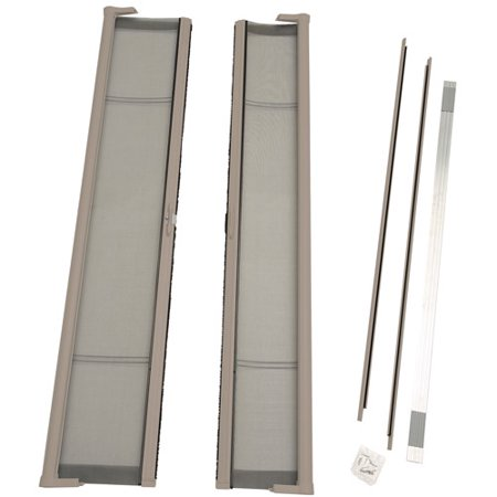 Odl brisa short double door single pack retractable screen for Retractable double screen door