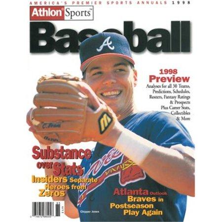 Athlon Ctbl 013284 Chipper Jones Unsigned Atlanta Braves Sports 1998 Mlb Baseball Preview Magazine