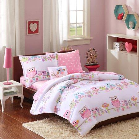 Mi-Zone Kids Wise Wendy Queen Comforter Sets for Girls - Pink, Owl â?? 8  Pieces Kids Girl Bedding Set â?? Ultra Soft Microfiber Childrens Bedroom  Bed ...