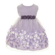 Baby Girls Lavender Taffeta Flowers Sleeveless Easter Dress 18M