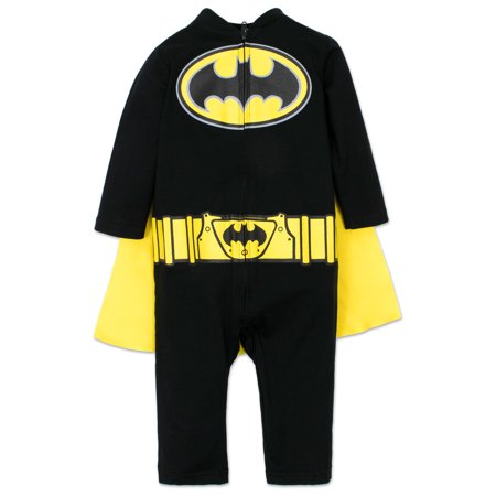 Baby Boys Batman Sleep N Play Coverall with Cape 18 Months](Batman Cartoons For Toddlers)