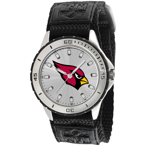 Game Time NFL Men's Arizona Cardinals Veteran Series Watch, Black Velcro Strap