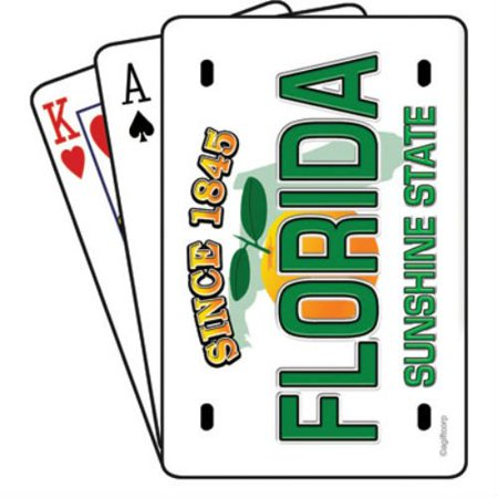 Plated Playing Card - Florida License Plate Playing cards