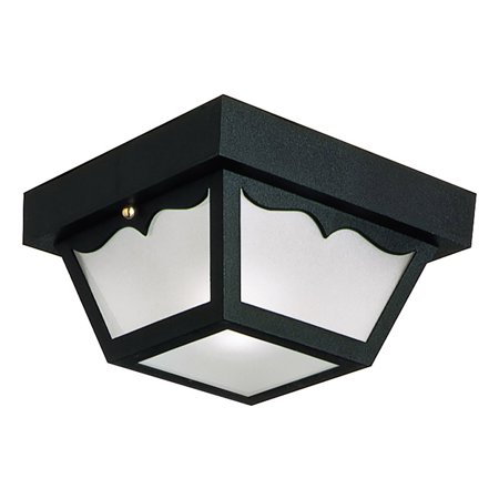 Marvelous Design House 502872 Two Light Indoor Outdoor Ceiling Light Damp Rated Black Finish Download Free Architecture Designs Intelgarnamadebymaigaardcom