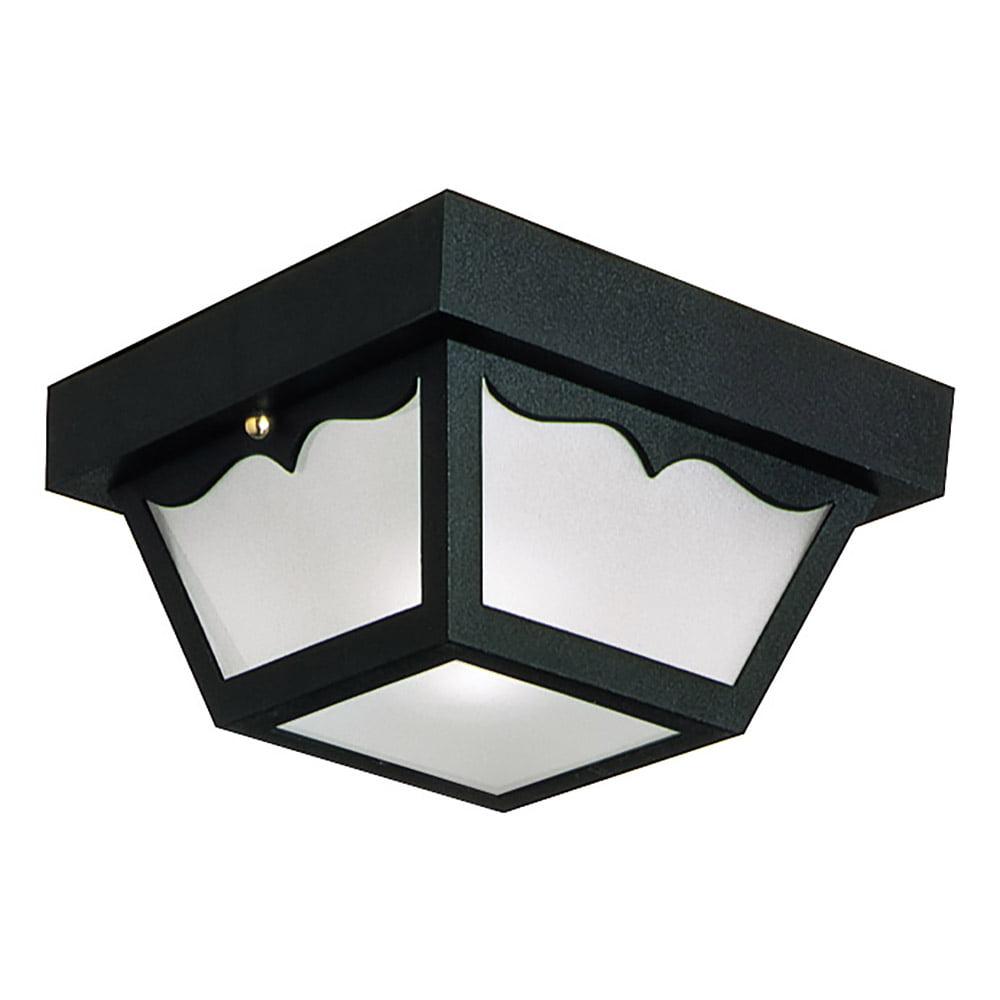 Design House 502872 2-Light Indoor/Outdoor Ceiling Light, Black