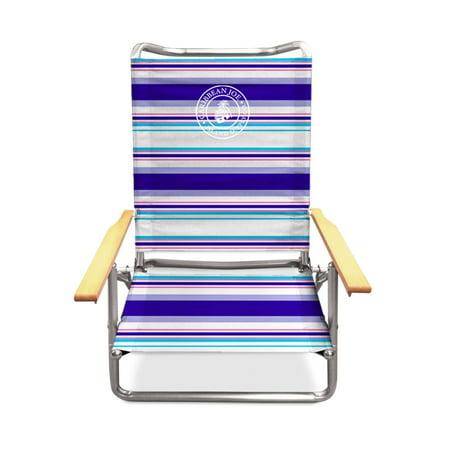 Caribbean Joe Five position folding beach chair