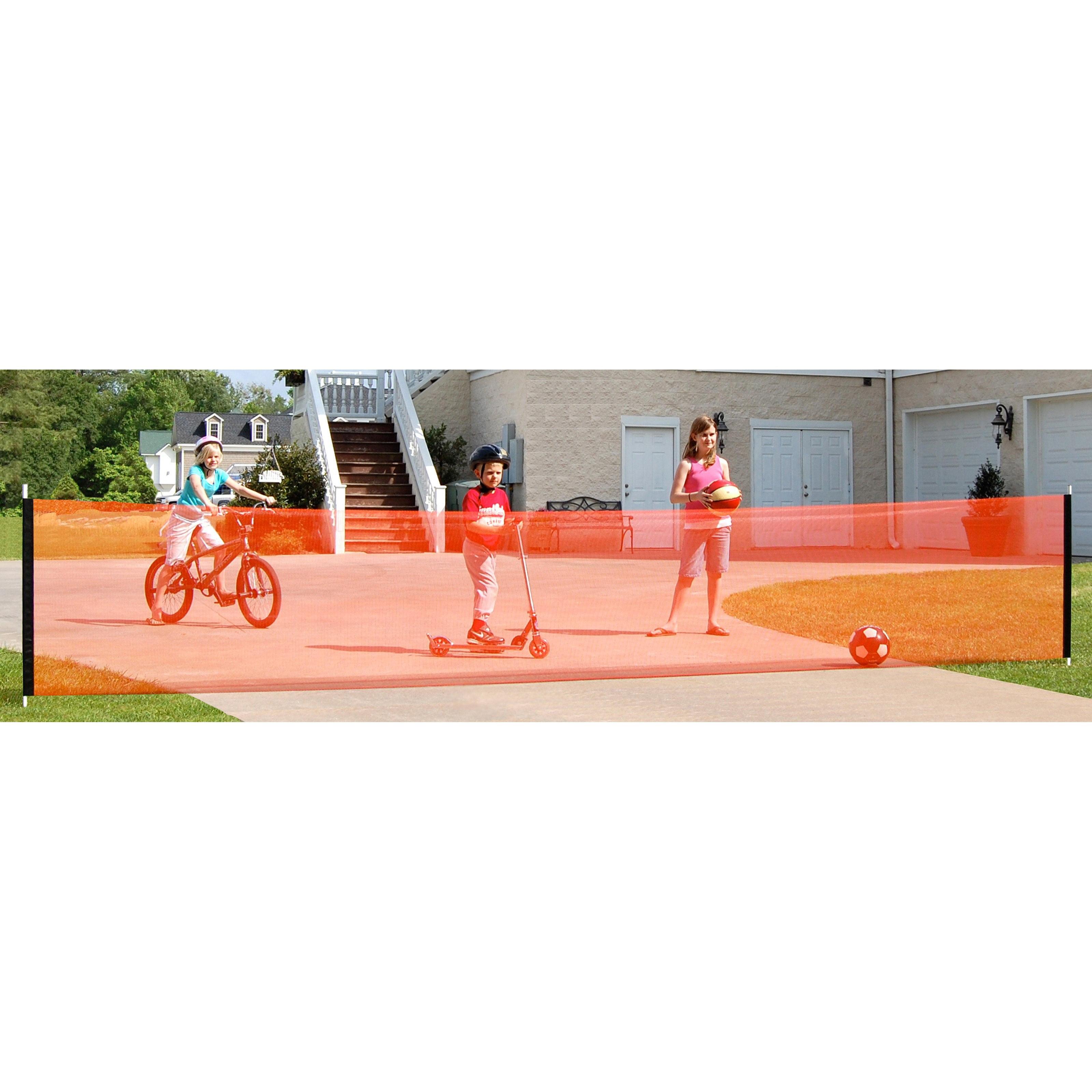 KidKusion Driveway Safety Net, 18 ft, Orange