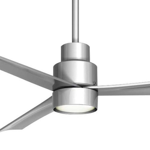 Minka Aire K9787l Sl Single Globe Silver Ceiling Fan Light Fixture