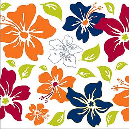 Brewster Home Fashions 12441991 Tropical Flower Square Self-stick 5pc Wall Accent (Warehouse Fashion Square)