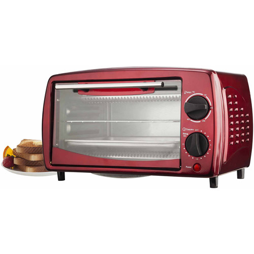 Brentwood 4-Slice Toaster Oven, Red