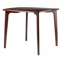 Winsome Wood Pauline Dining Table, L-Shape Legs, Walnut Finish