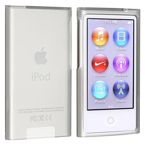 Insten TPU Rubber Skin Case For Apple iPod nano 7 7th Generation, Frost Clear White