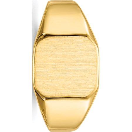 14k Yellow Gold Men's Signet Ring - image 4 de 5