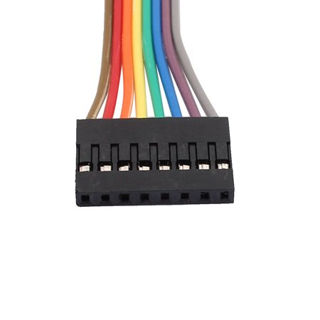 5PCS 2.54mm Pitch 8P Female Breadboard Single Head Jumper Wire Cable 50cm Long - image 3 of 4