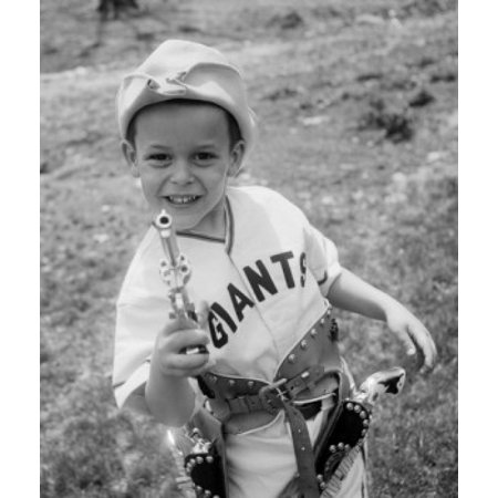 Portrait of boy wearing cowboy costume Canvas Art - (18 x 24)