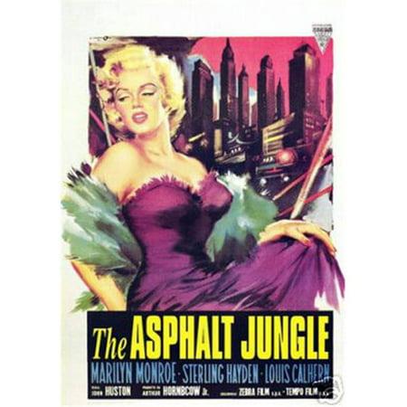 Hot Stuff Enterprise 5379-12x18-LM La Asphalt Jungle Marilyn Monroe affiche - image 1 de 1