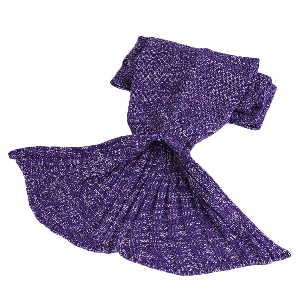 Disney Little Mermaid Blanket Tail Sleeping Wrap Bag Kids Mermaid Tail Blanket, Purple