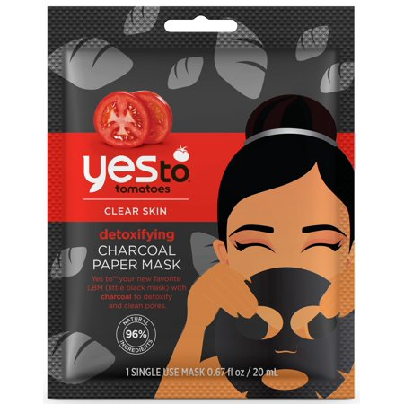Yes To Tomatoes Detoxifying Charcoal Paper Mask Single Use Charcoal Face Mask 0.67