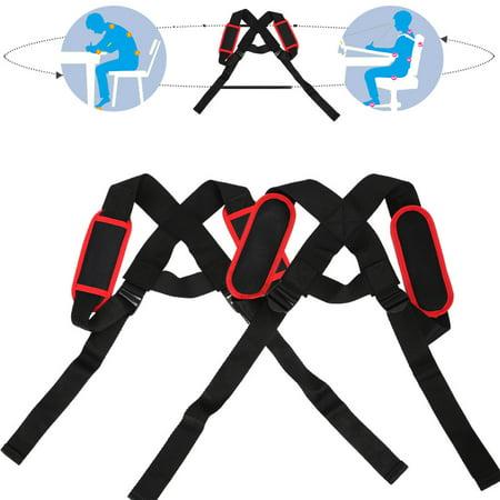 WALFRONT Élastique réglable posture support de correction du dos correction du support thoracique Bandoulière ceinture, correcteur de posture du dos, orthèse de maintien du dos - image 4 de 8