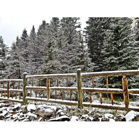 LAMINATED POSTER Rustic Fence Wooden Post And Rail Boundary Poster Print 24 x 36