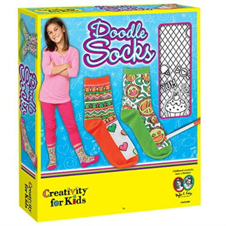 Doodle Socks - Craft Kit by Creativity for Kids - Art And Craft For Kids Halloween