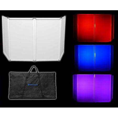 Rockville RFAAW DJ Event Facade Light Weight Metal Frame Booth+Travel Bag+Scrim - Party City Rockville