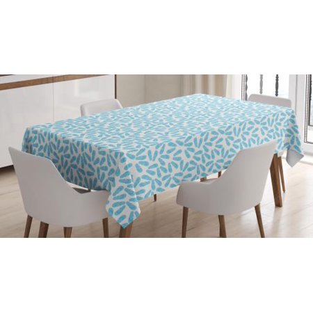 Flip Flop Tablecloth, Pairs of Beach Thongs Design in Pale Blue Shade on White Background, Rectangular Table Cover for Dining Room Kitchen, 60 X 90 Inches, Pale Blue and White, by Ambesonne - Flop Of The Pops