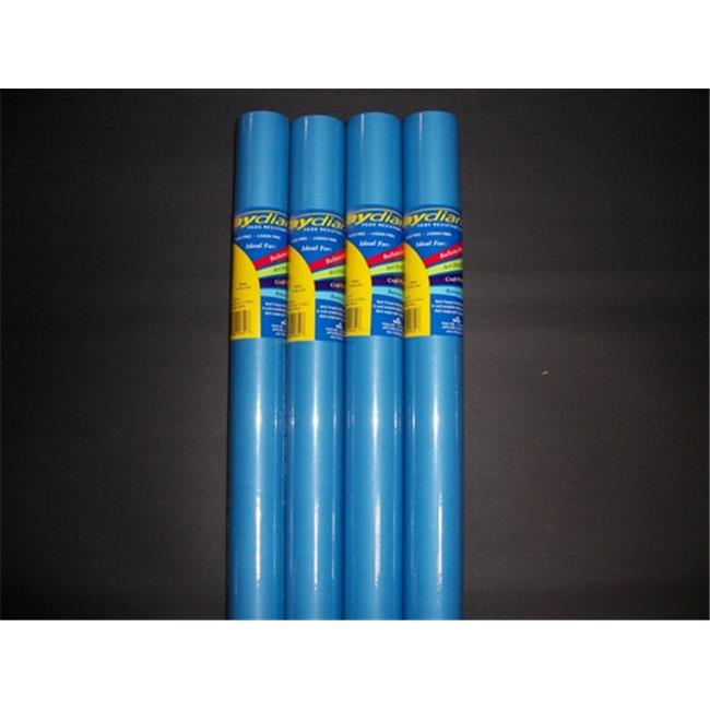 RiteCo Raydiant 80157 Riteco Raydiant Fade Resistant Art Rolls Bright Blue 48 inch X 50 Ft.  4 Pack