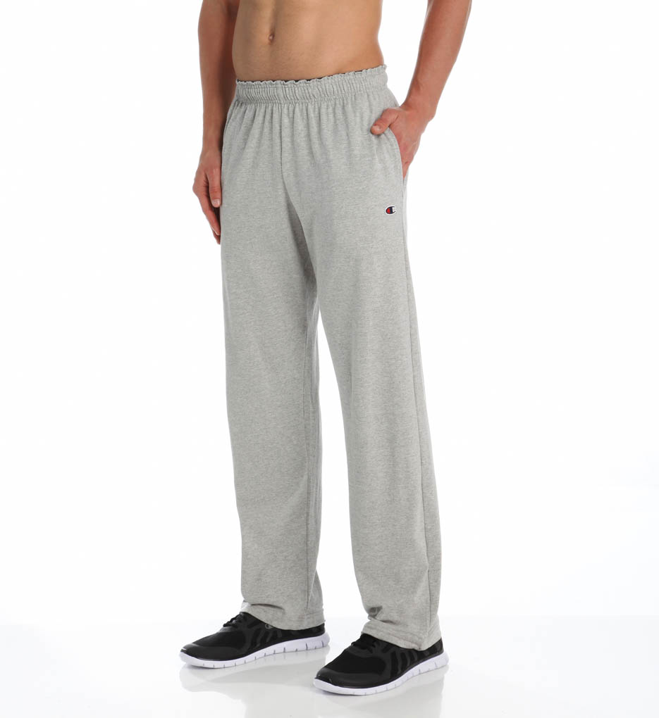 c886878af704 Hanes - Mens Open-Bottom Jersey Sweatpant S Granite Heather - Walmart.com